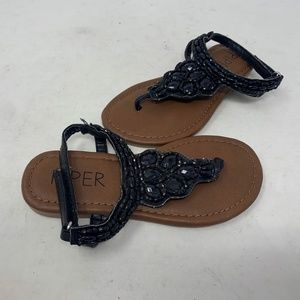 Piper Toddler Girl's Sandals Blk Size:10 (a27-b2)